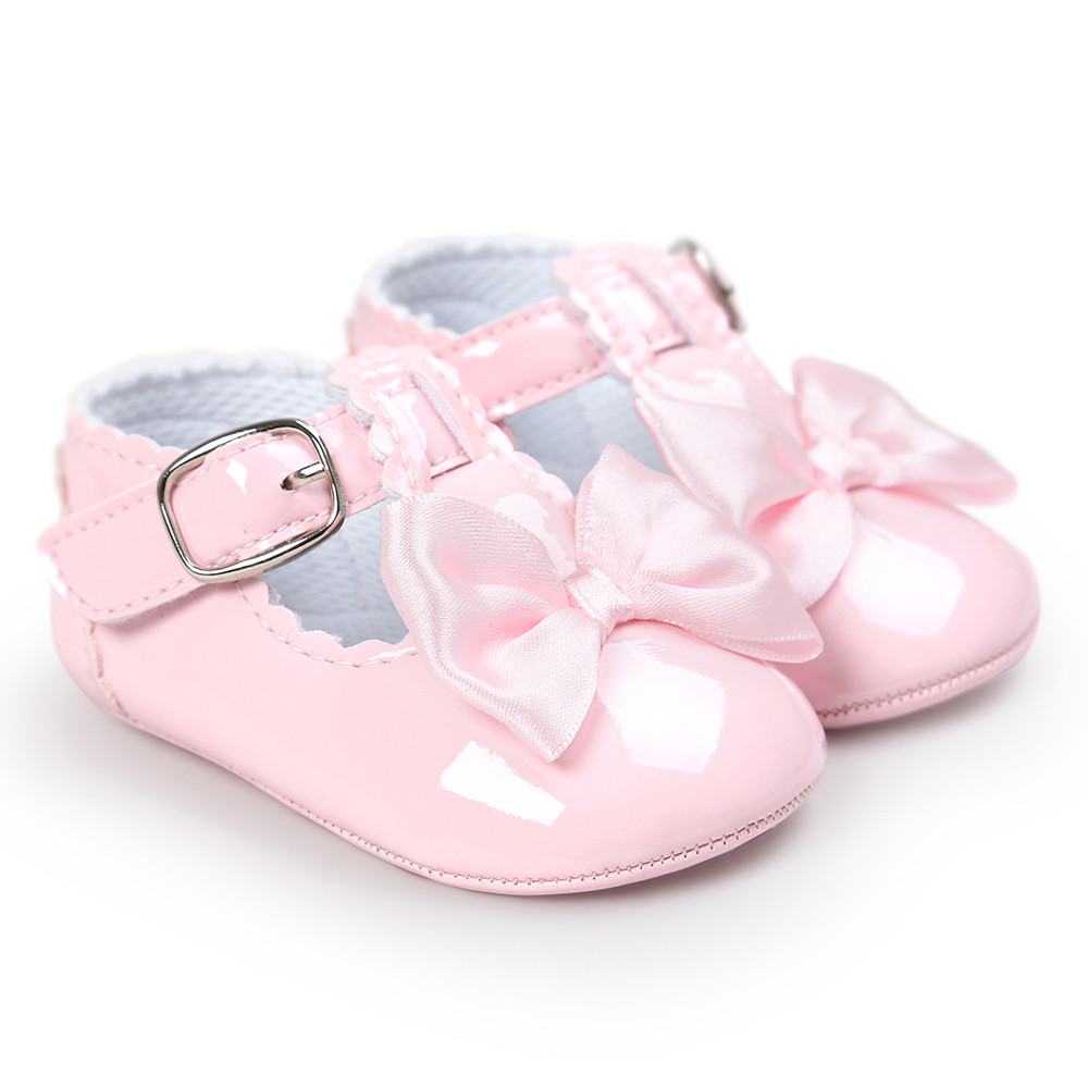 TELOTUNY baby girl shoes PU leater Bow Princess Soft Sole baby moccasins 18C0419