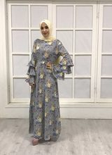 Wholesale Adult feather pattern embroidery Mujer Abayas Muslim Female msh +  dress two pieces Islamic Ramadan cedf369d81ec