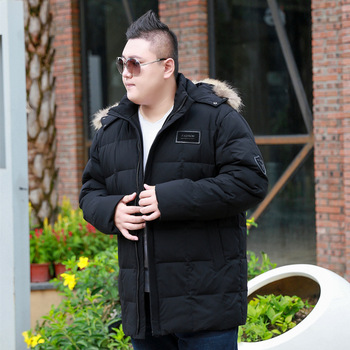 Men's Winter Hooded With Large Fur Collar Cotton Detachable Cap Thickened Long Section Collar  jacket Suitable minus 35 degrees