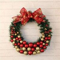 1pc Artificial Flower Xmas Wreath Door Decorative Wedding Hanging Christmas Wreaths Garland For Home Decoration Supplies