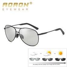 AORON ÓCULOS de Piloto Óculos De Sol Fotocromáticas Homens HD UV400 Camaleão  Polarizada Óculos De Sol óculos de Sol Masculino Óc.. 9030c20b07