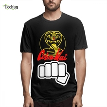 Cobra Kai T Shirt shirt Homme Tee Hipster Male Casual Summer Quality Cotton For Man