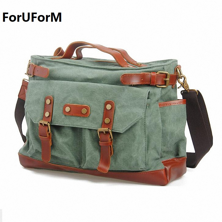 15inch laptop canvas mens school messenger bag Shoulder Bags Men Canvas cross body Bags casual travel Bags LI-444