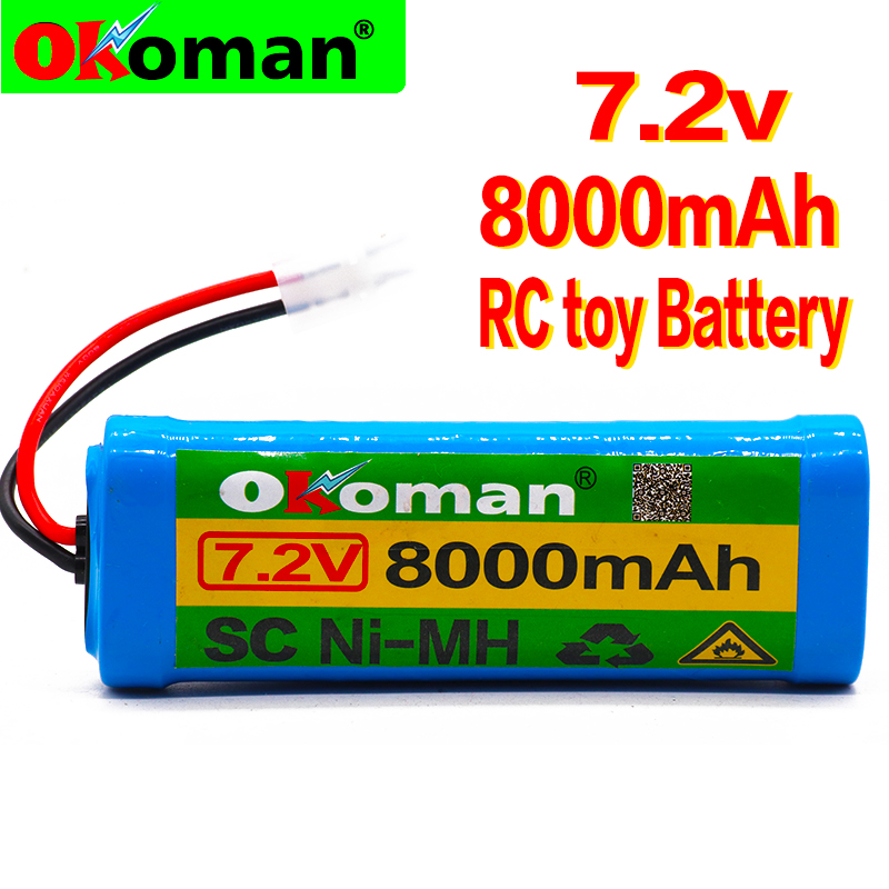 7.2V Battery 8000mAh NiMH Batteries Pack For RC toy battery Car Truck Buggy Boat Tank Ni-Mh Baterias gray supper power