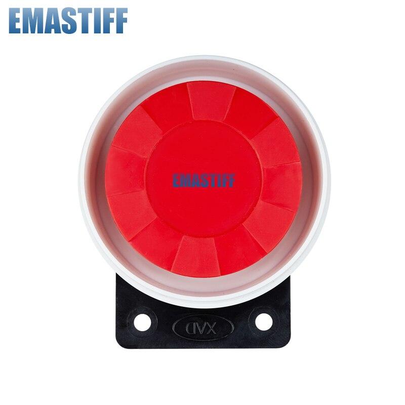 Livraison gratuite 1 pièces/lot 9-12 V 120dB nouvelle 100-120 dB Mini sirène filaire pour notre système de sécurité d'alarme domestique sans fil gsm pstn