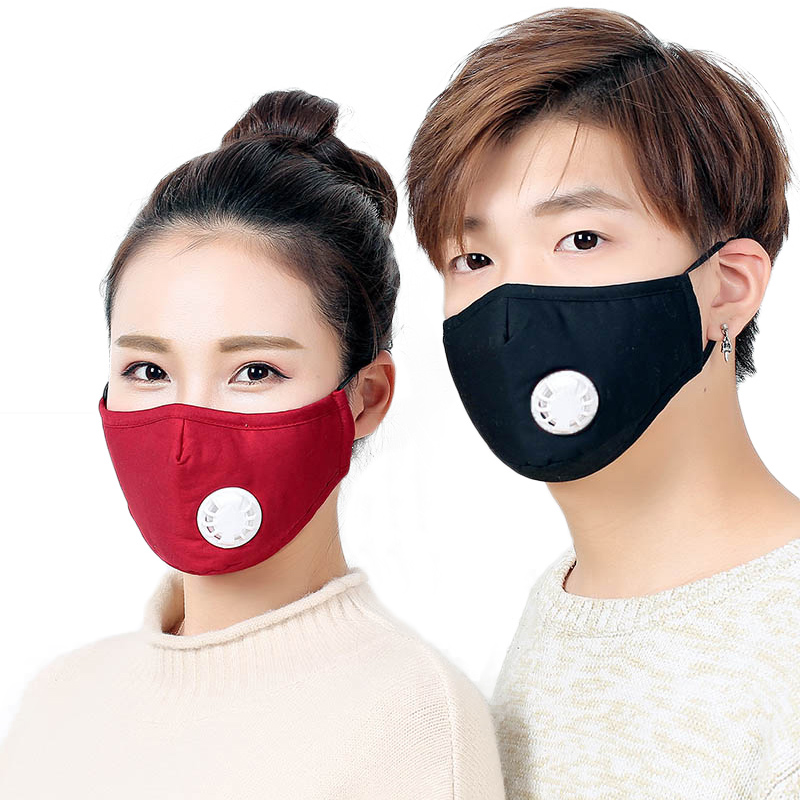 Sale Cotton PM2.5 Anti Haze Mask Breath Valve Anti-dust Mouth Activated Carbon Filter Respirator Mouth-muffle Face Mask