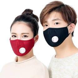 Продажи хлопка PM2.5 анти дымке маска дыхание клапан Анти-пыль рот угольный фильтр респиратор рот муфельной маска для лица