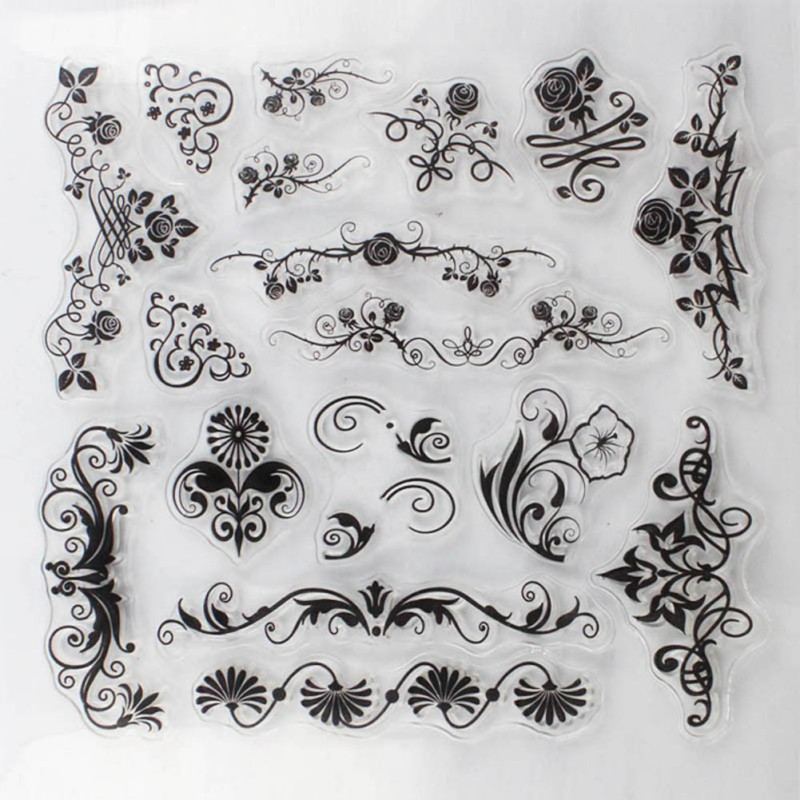 DIY Scrapbooking/Card Making/Christmas Decoration Supplies Stamps Flower vine Transparent Stamp