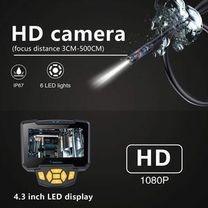 Image 3 - Pantalla Lcd de 1M, 10M, 4,3 pulgadas, inspección de tuberías, endoscopio Industrial, cámara de inspección 1080P, boroscopios de tubo de serpiente a prueba de agua IP67