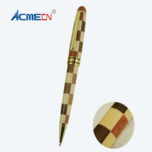 ACMECN Hot Sale Popular Design Stiching Maple and Rosewood Gifts Natural Eco-friendly Hand-made Stationery Wooden Ballpoint Pens
