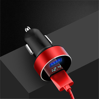 Mini Dual USB Car Charger with LED Display Voltage Detection for Dodge charger journey challenger caliber caravan ram 1500 nitro