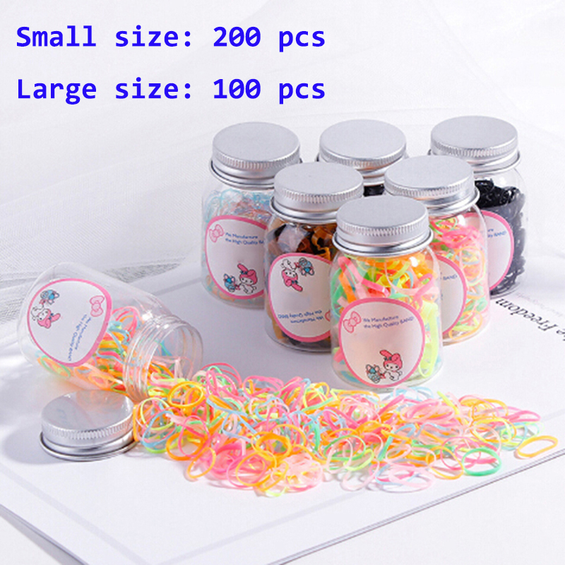 100/200Pcs Colorful  Disposable Elastic Bands Natural Rubber Band Home Food Kid Hair Package Office Rubber Brands
