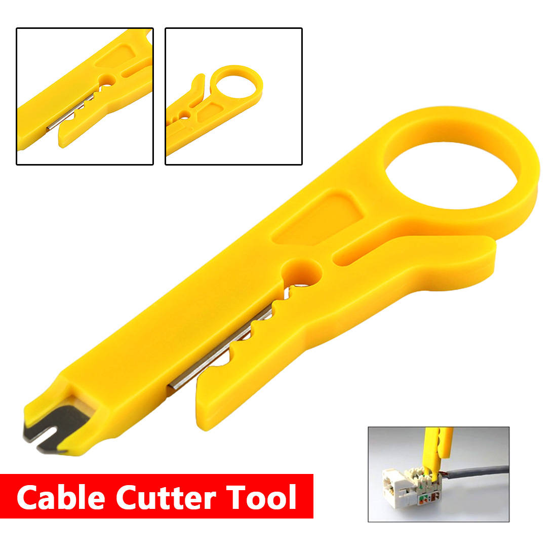 Mini Portable Wire Stripper Knife Crimper Pliers Crimping Tool Cable Stripping Wire Cutter Punch Down Wire Multi Tools Cut Line