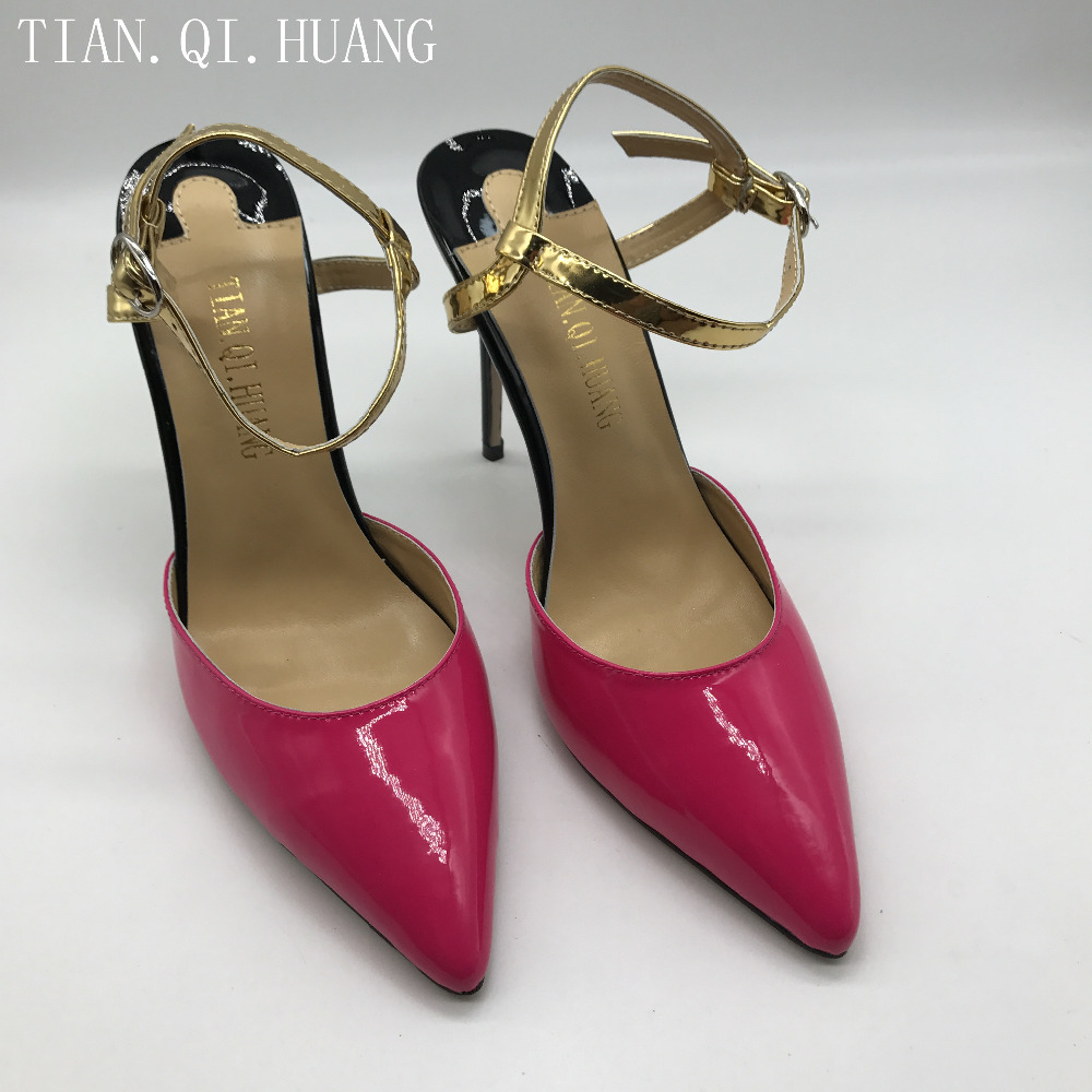 Huang Tian Calzado Fino Para Photo As Genuino Nuevos Tacón Altos Marca Mujeres Tacones Mujer Bombas Sandalias Cuero Qi Estilos pxxqSO8wZ