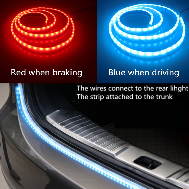 Newest Car Tuning Turn Signal Light Strip Led Trunk Tailgate Dual Color Flowing Rear Lamp 12v 121cm