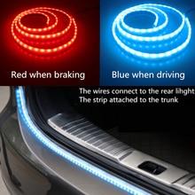 Newest Car Tuning Turn Signal Light Strip Led Trunk Tailgate Light Dual Color Flowing LED Strip Rear Strip Light Lamp 12V 121cm