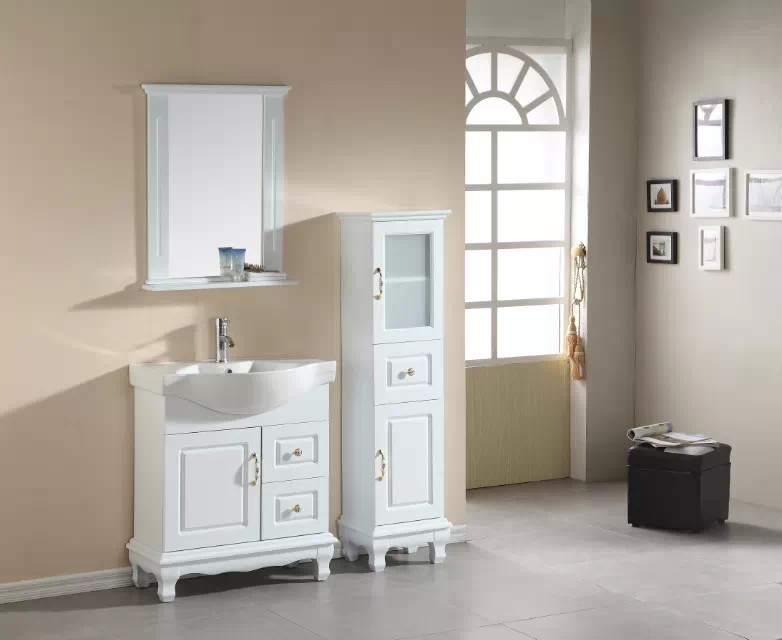 modern bathroom furniture with side cabinet