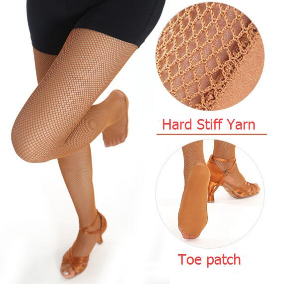 Professional Latin Fishnet Dance Tights Ballroom Latin Dance Dress For Women