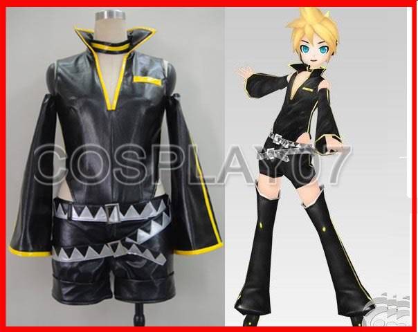 Vocaloid 2 Kagamine Len Black Cosplay Costume Halloween