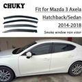 Chuky 4 шт. ABS Авто Стайлинг окна Козырьки навесы укрытия дождевой щит для Mazda3 Axela хэтчбек/седан 2014-2018 аксессуары