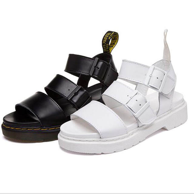 e13874489d16 placeholder 2018 Summer Roman Women s Sandals Shoes Plus Size Genuine  Leather Retro Casual Sandals Female Thick Heel
