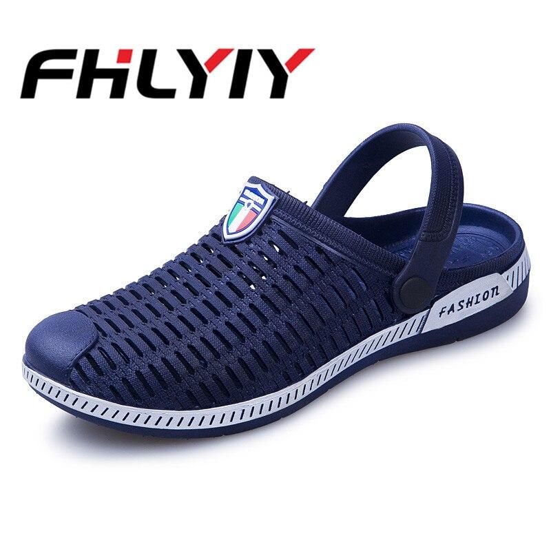Летние Для мужчин слайд тапочки Повседневное мягкие Нескользящие сандалии для Для мужчин ...