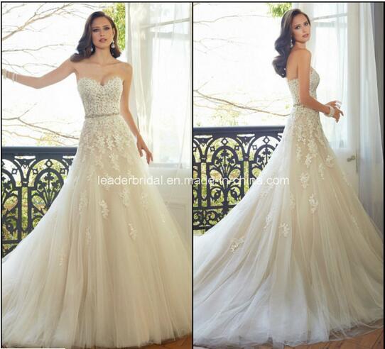 Cream Wedding Gown: 2017 New Wedding Dress Champagne Cream Strapless