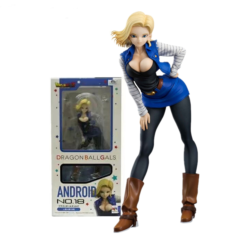 19cm Dragon Ball Z Android <font><b>18</b></font> Lazuli <font><b>sexy</b></font> Anime Action Figure Dragonball Collection Figures Toys Collection For Christmas Gift image