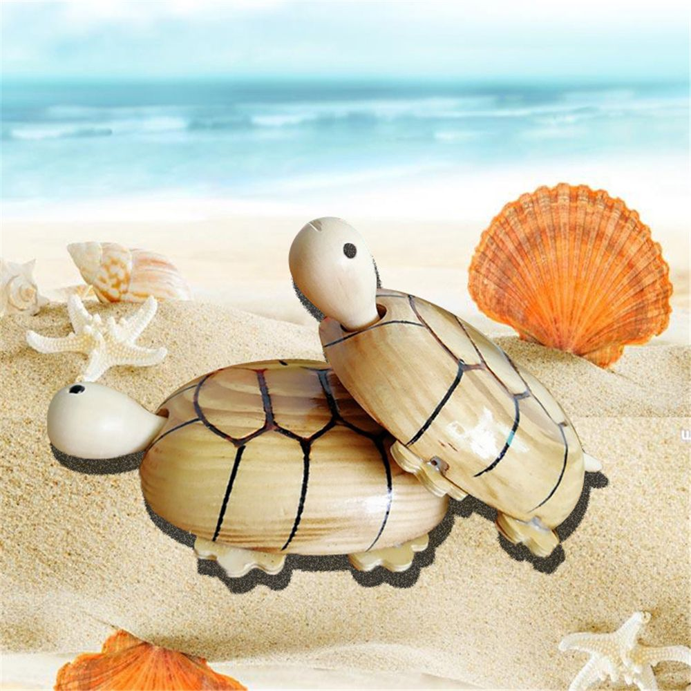 Hot Sale New Cute Wooden Shaking Head And Tail Wheels Simulation Turtle Car Toy Children Best Gift For Award