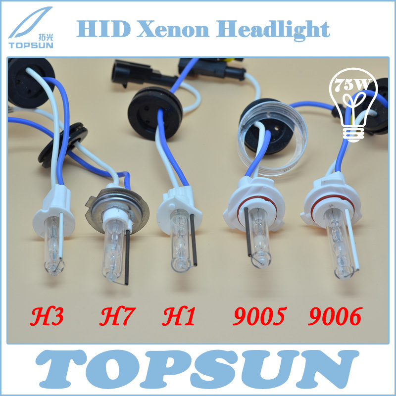 12V 24V 75W HID Xenon Bulb H1 H3 H7 H8 H9 H10 H11 9005 9006 880 H27 881 Ceramic Base For Car Headlight Free Shipping In Light Accessories From