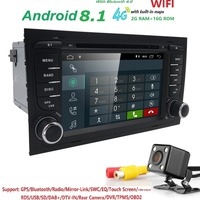 IPS screen 2G RAM 7 CAR dvd player radio For Audi A4 B6 B7 S4 B7 B6 RS4 B7 SEAT Exeo stereo multimedia auto navigation OBD2 USB