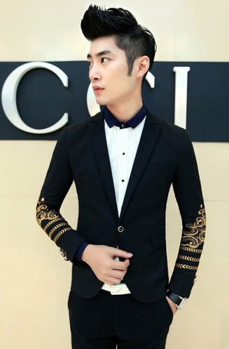 Popular Black and Gold Prom Suit-Buy Cheap Black and Gold Prom
