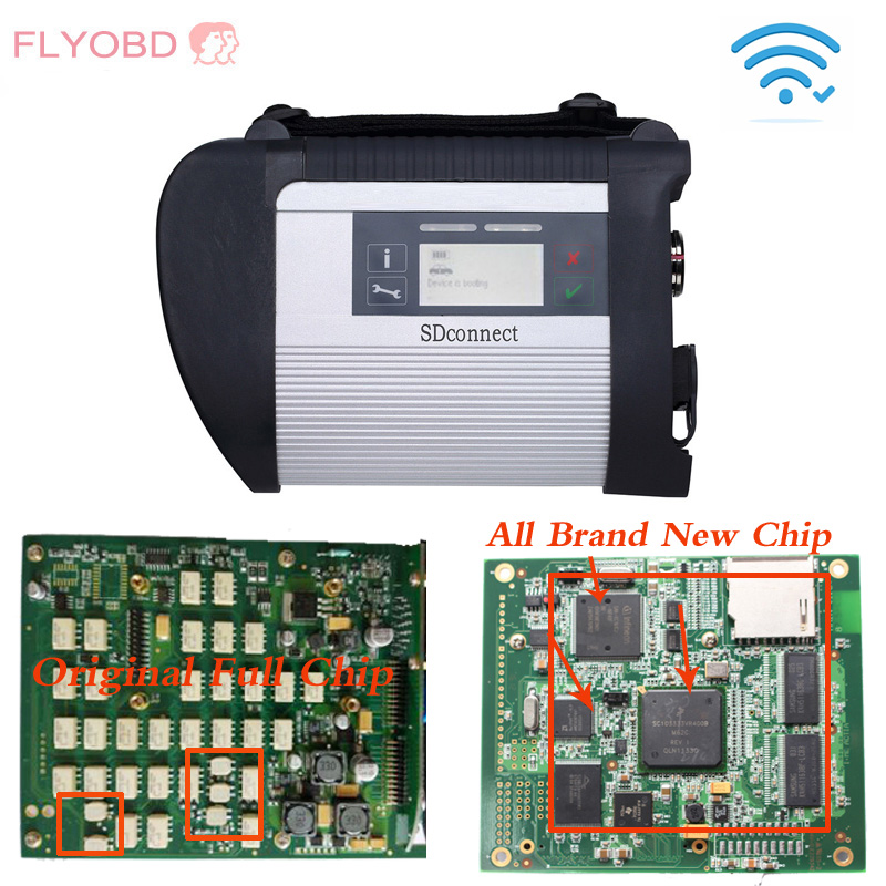 Wifi MB SD Connect 4 Compact 4 with Newest 2017.03V software HDD/SSD Vediamo For MB Star C4 Multiplexer Xentry Diagnostic tool