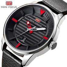 MINIFOCUS Brand Men Watches Top Business Quartz Waterproof Clock Luxury Men Leather Leisure Sport Date Wristwatches relojes