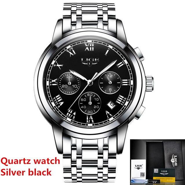 Silver black Quartz
