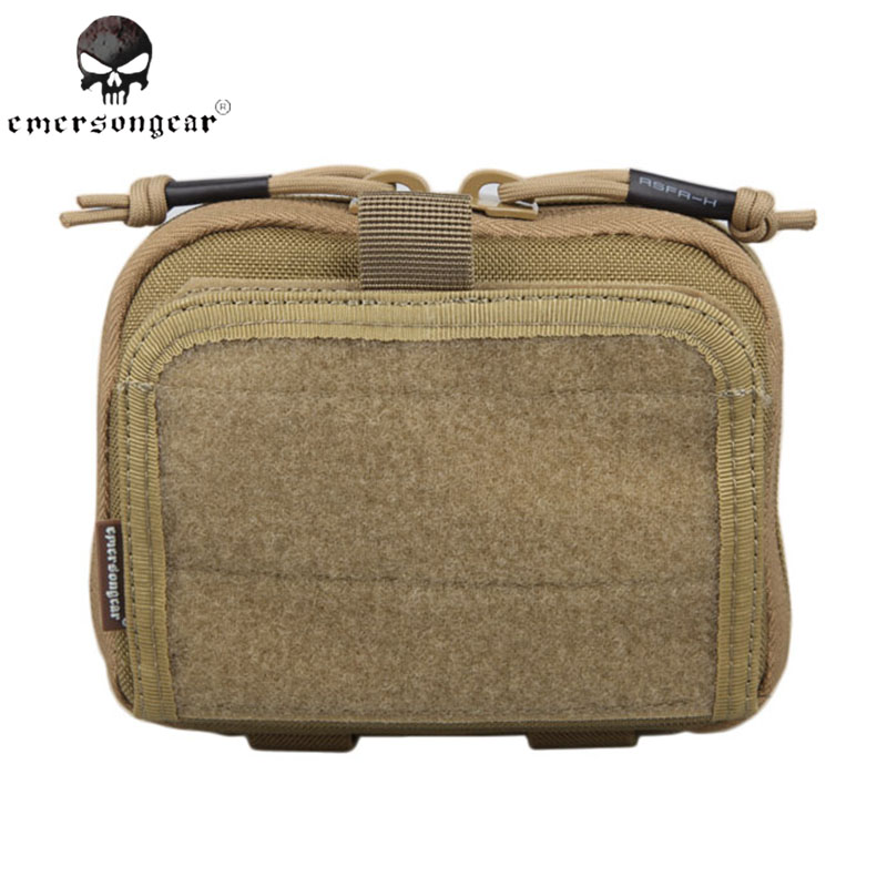 Emersongear ADMIN Multi-purpose Map Bag Emerson Tactical Pouch Military Army MOLLE Combat Gear EM8506E Khaki wp admin