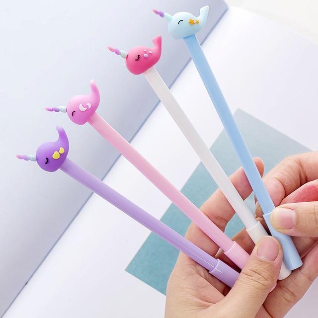 الجملة 60 قطعة kawaii حبر قلم للرجال لطيف الحصان الحوت أقلام للمدرسة اللوازم المكتبية الطلاب الكورية القرطاسية هدية البنود السائبة