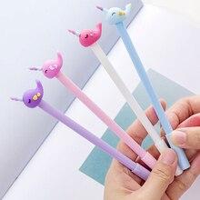 도매 60pcs kawaii 젤 잉크 펜 귀여운 말 고래 펜 학교 사무 용품 학생 한국 문구 선물 용품 대량