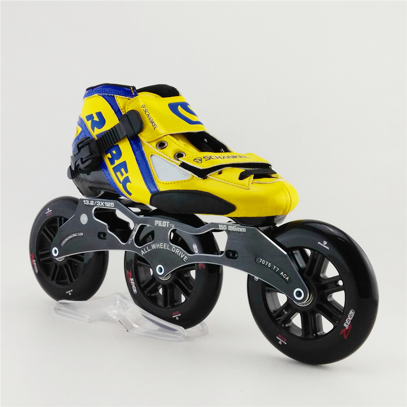 Adults Patins Roller Skate Rebecre Speed Roller Mens Slalom Speed Skating Shoes Professional 3 Wheel Inline Speed Skate professional adults inline speed skates shoes heelys roller skate carl speed skate patins roller skate