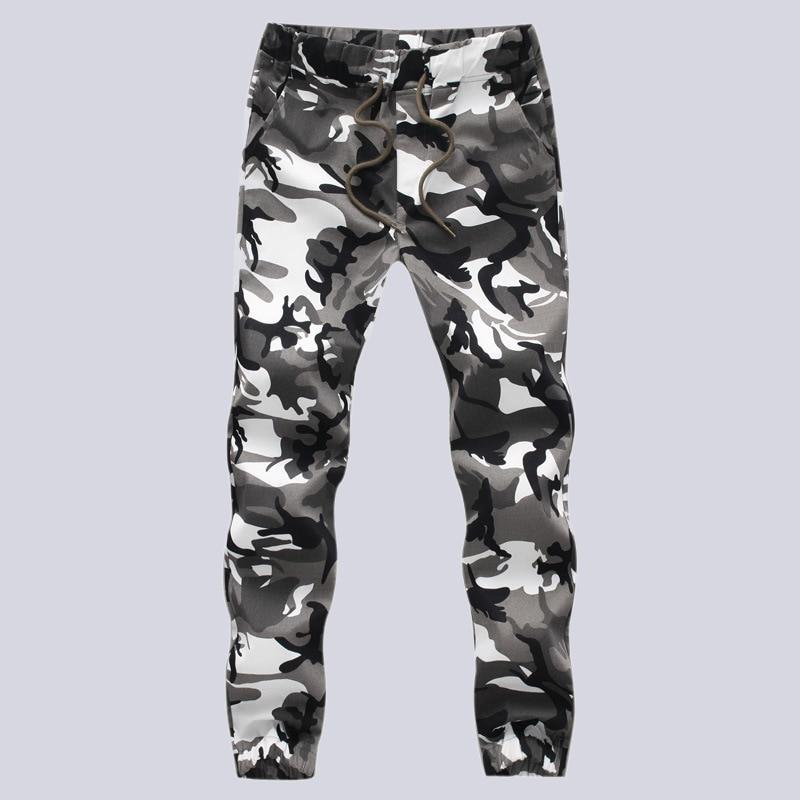 2017 Bahar Rahat erkek Pamuk Kargo Pantolon Erkekler Askeri Camo - Erkek Giyim