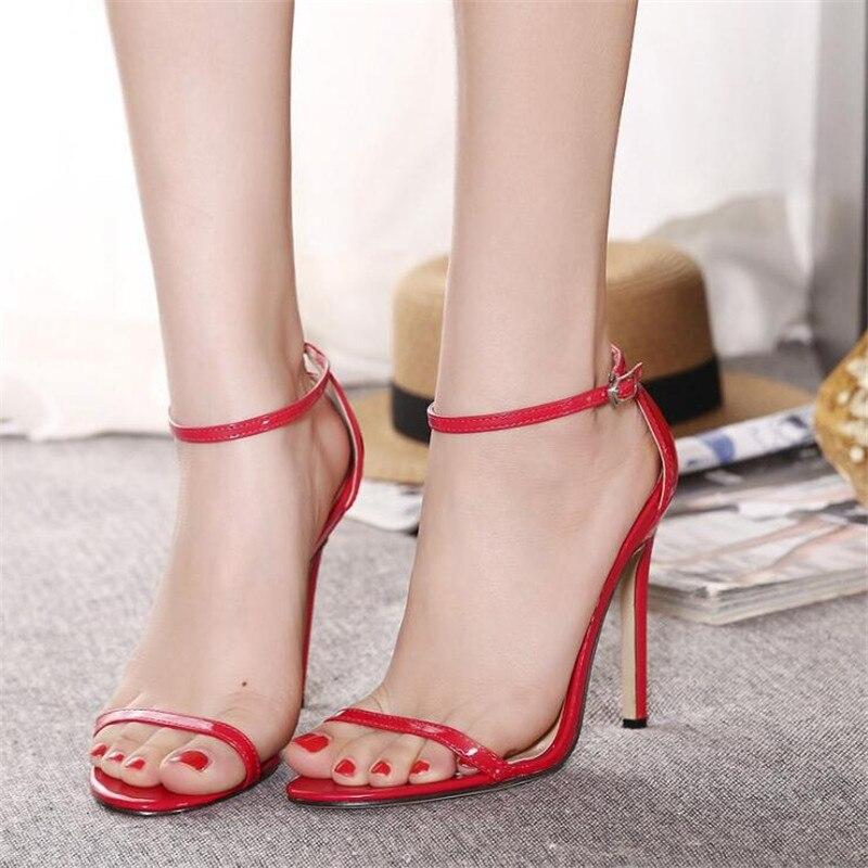 Con Zapatos Áspera Estupendas Negro 3 Verano 726 Mujeres Alto Del caqui De Talón Punta Sexy Grande Tamaño blanco h La Pescado Abierta rojo Cabeza Sandalias Zl Las 5x0gqfYqT