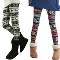 3459 Women's Retro Knitted Snowflakes Warm Leggings Winter Pants Trouser