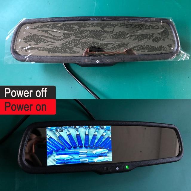 Ekran lustrzany lusterko wsteczne samochodu zamontuj ekran aparatu uchwyt Auto Brighenss zmień ściemnianie kamera z widokiem z przodu monitor LCD TFT