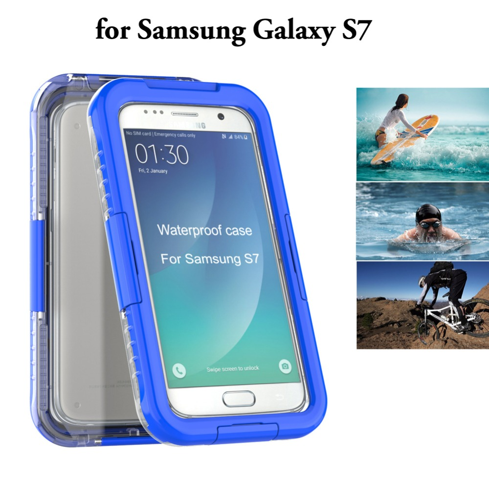 hot sale online bca88 76f96 US $9.99 |For Samsung S7 Waterproof IP68 Heavy Hybrid Swimming Drifting  Case Cover for Galaxy S7 edge Shockproof Protective case case-in Fitted  Cases ...