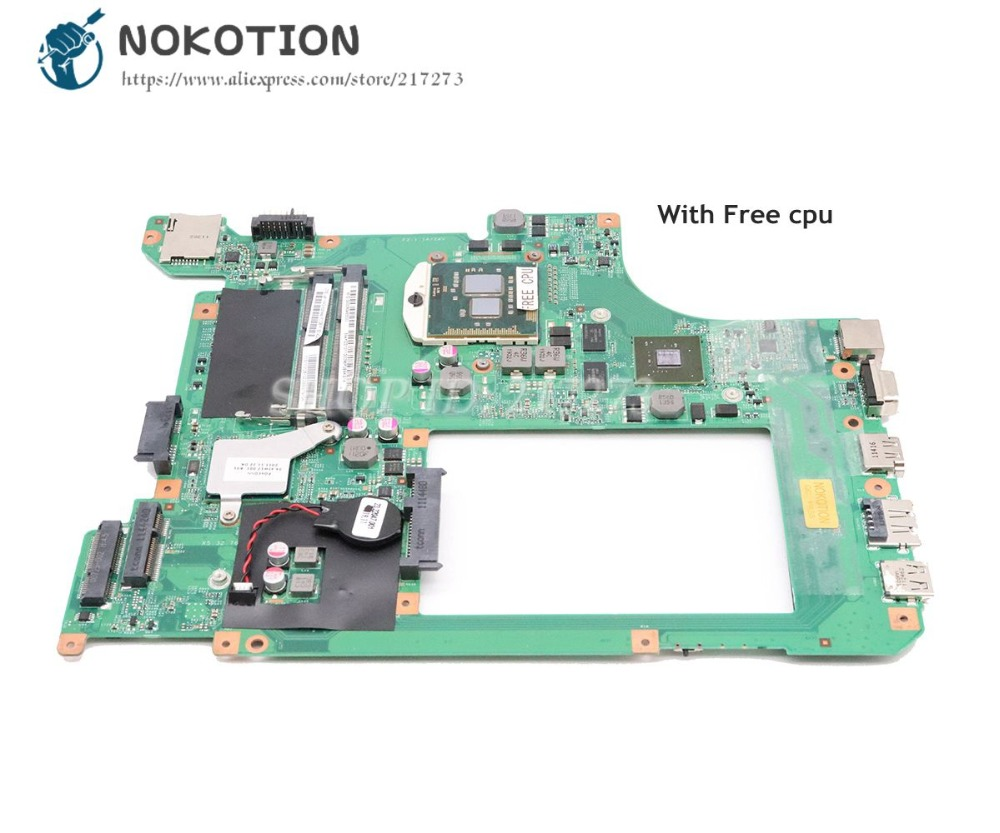 NOKOTION For Lenovo B560 Motherboard 48.4JW06.011 10203-1 LA56 MB HM55 G 310M Graphics Free CPU