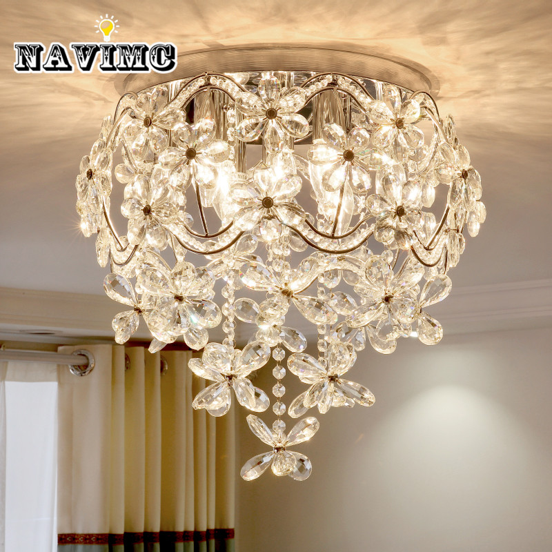 Modern k9 Crystal Chandelier Lighting for Dining Room Kitchen Living Room Bedroom Ceiling led Luxury Rural Pendant Lamp 110-240v led chandeliers for dining room bedroom kitchen white color k9 crystal chandelier light for home decoration lustres para quarto