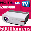High definition Home Theater Cinema 1080P TV Video Digital HDMI USB LCD Video fuLL HD LED Projector for family pc game