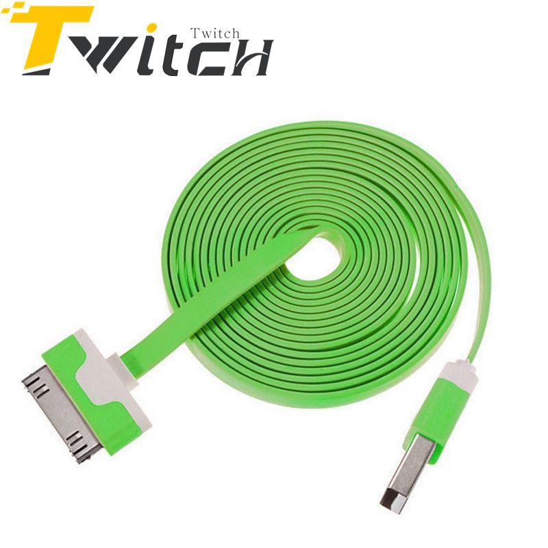 online get cheap usb wire colors aliexpress com alibaba group 30 pin cable for iphone 4 4s ipad 2 3 charger cable alloy plug noodle charging data sync cords usb wire 10 colors available