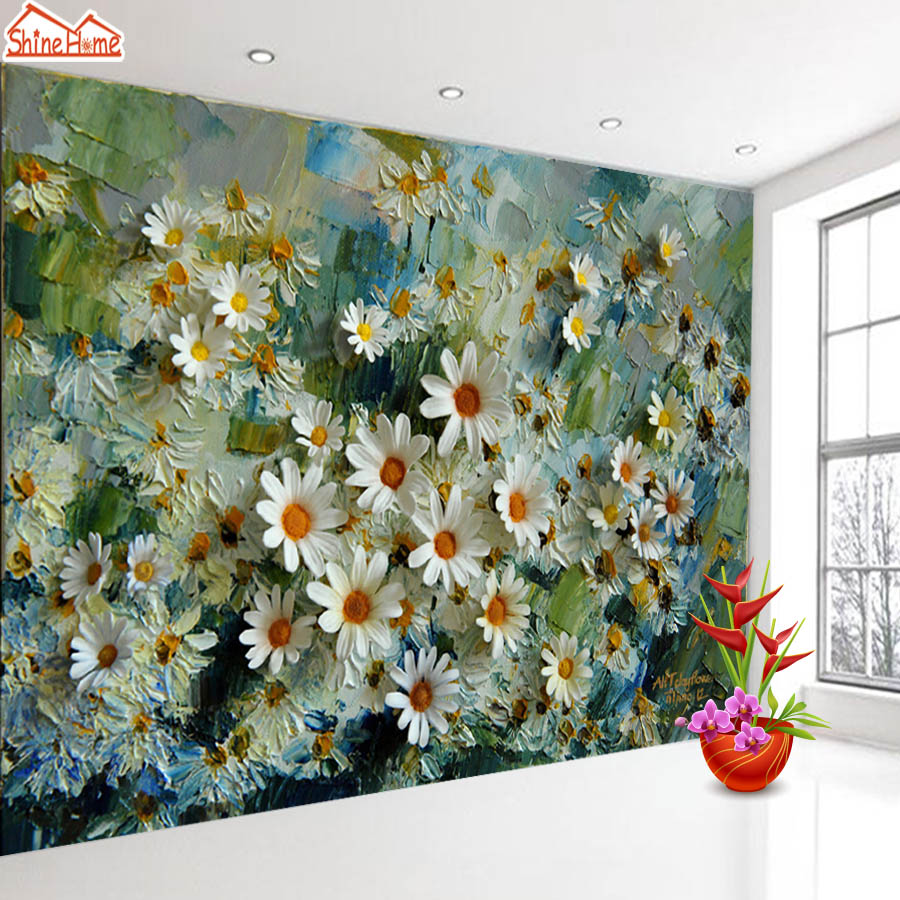 ShineHome-Custom 3d Photo Wallpaper Murals For Living Room Wallpapers Wall Papers Home Decor Prints Floral Blossom TV Background