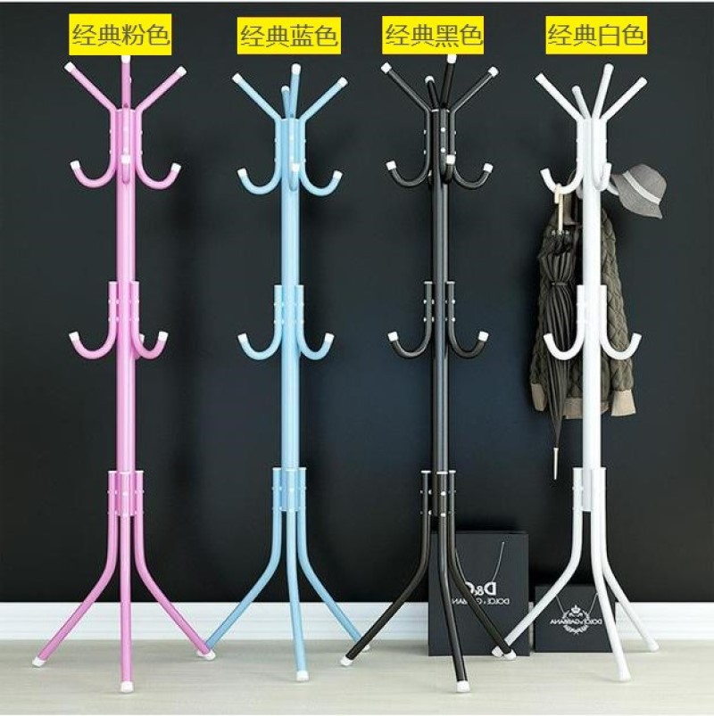 Simple Floor Coat Hanger Iron Coat Hanger Vertical Clothes Rack Hangers Lobby Hangers Coat Stand  Hat Rack